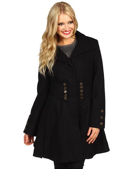 Palton De Iarna Negru In Clos Betsey Johnson Corset Coat